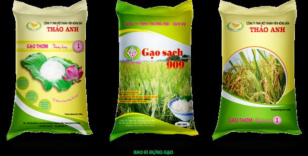 Bao bì đựng gạo phải chất lượng chứa đựng tình quê